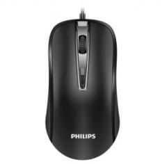 飞利浦鼠标有线USB家用办公商务笔记本静音无声台式电脑电竞游戏