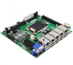 探路狮EITX-7560五网口工控主板MINI嵌入式视觉主板1150针4代CPU